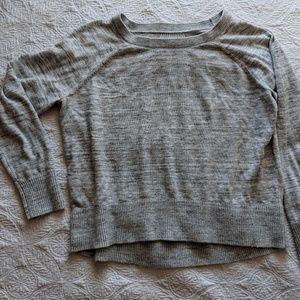 Heather Gray Space Dye Sweater